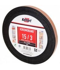 Compriband KOMO zwart 10x10mm 12.5M1