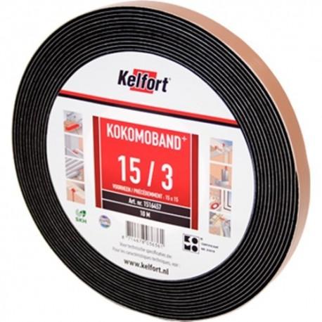 Compriband KOMO zwart 15x10mm 12.5 M