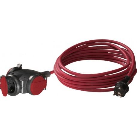 Volrubber hangcontactblok +5M kabel