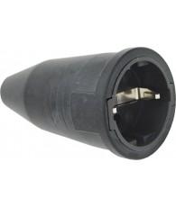 Kelfort Contrastekker rubber zw.16A/250V