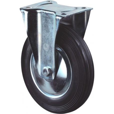 Bokwiel zwart+plaat 100mm