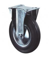 Bokwiel zwart+plaat 200mm