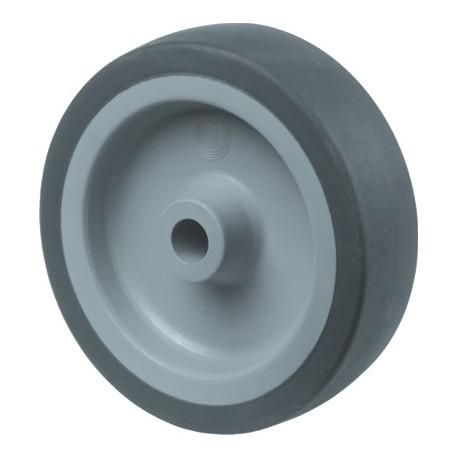Kunstst.wiel glijl.grijs rub loopvl 50mm